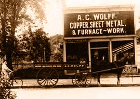 Early photo of Al Bar location circa 1880's