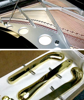 These are some in progress photos for a piano restorationproject we completed for a local client.